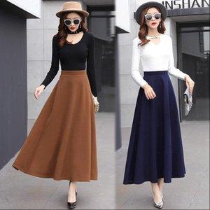Hayblst marque femme jupe femme automne hiver jupes femmes plus grande taille vêtements taille coréenne style coréen vêtements de laine vêtements