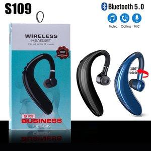 S109 TWS Wireless 5.0 Bluetooth earphones Handsfree Earloop headset Finess Running Drive Call Sports Headphone With Mic Men Women 3colors