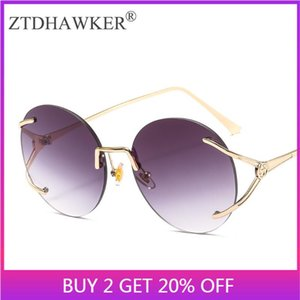 Sunglasses Round Color Metal Frame With Diamond Glasses Fashion Men And Women Models Wild Spectacles