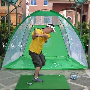 Golf Hitting Net Foldable Practice Cage Driving Training Aid For Outdoor Indoor With Target And Carry Bag Aids