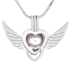Anhänger Halsketten PCS Silber Angel Pearl Käfig Anhänger, Halskette Schmuck für DIY Geschenk, PC153