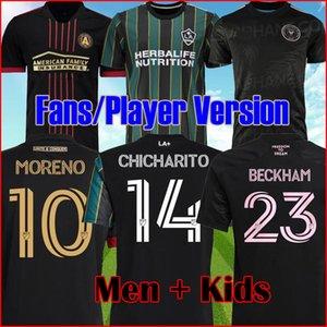 MLS 20 21 Atlanta United FC Soccer Jersey 2021 2022 La galaxia Camisas de fútbol Versión del jugador Inter Miami CF Tops Matuidi Beckham Shirt Hombres Kit Kit Juego Uniformes