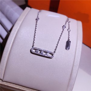 New Arrival Fashion Quality Shiny Zircon Pendant Pure 925 Sterling Chain All Matching Women Sier Necklace