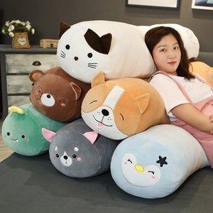 65cm-120cm Plush Penguin Dinosaur Dog Bear Cat Toy Doll Boyfriend Giant Long Pillow Big Cushion Stuffed Doll Girls Bolster Gifts