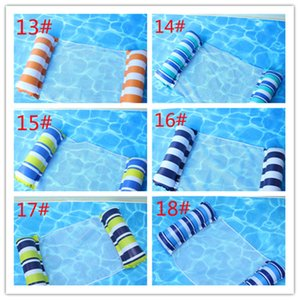 2021 Fashion Floating Bed Inflatable Mesh Float Raft Fold Water Hammock Lounge Swimming Pool Beach Play Tools
