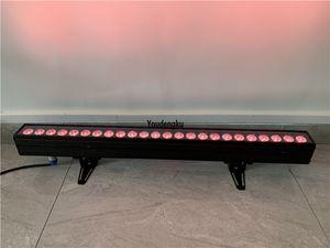4pcs Dmx 24x10w rgbw 4in1 indoor light led wall washer 1M LED Wall Wash Bar Linear Flood Light