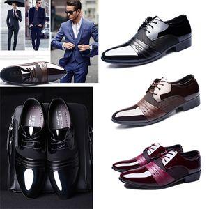 Мужские платье Обувь формальные мужские ручной работы свадебные ботинки большие размеры натуральные кожи на шнуровке мужчины