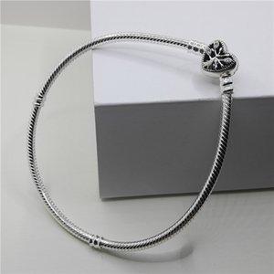S925 Bracelet Sliver 3mm Snake Chine Femmes Bijoux Fille Fit Cz Pandoa Charm pour Bele Accessoires