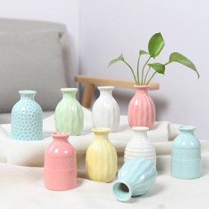 Vases Small fresh ceramic small vase modern minimalist flower arrangement fake flowers dried flowers living room dining table home accessori