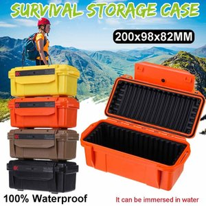 Colorful Outdoor Shockproof Waterproof Boxes Survival Airtight Case Holder Storage Matches Tools Travel Sealed Containers Tool Organizers