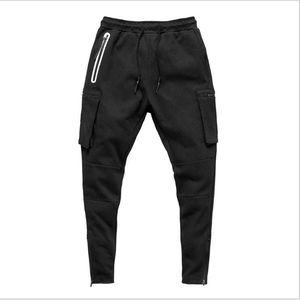 Men Pants Fitness Casual Elastic Bodybuilding Clothing Navy Military Sweatpants Joggers 2021 Men's