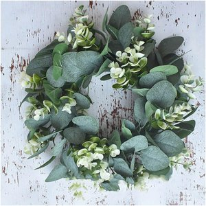 Simulation Eucalyptus Money Leaf Wreath Artificial Garland Hanging Pendants For Wedding Home Decoration Pographic Prop Decorative Flowers &