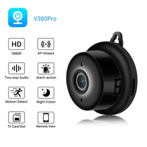 V380 Mini WiFi IP Camera HD 720P Wireless Indoor Nightvision Two Way Audio Motion Detection Baby Monitor