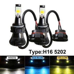2 Pieces PSX24W 5202 H16 LED Fog Light Bulbs COB Lamps Tow Color Strobe Fog Lamp