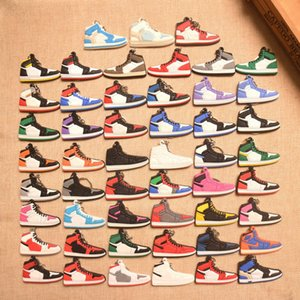 Keychain Cell Phone Straps Sports Shoes Slicone 2D Charms Pendants Accessories Universal