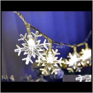 Led Snowflake Wedding Room Bar Outdoor Christmas Decoration 3 Meters 20 Pcs Warm Use Battery C788 Ojqvu Lampsshades Gcxfw