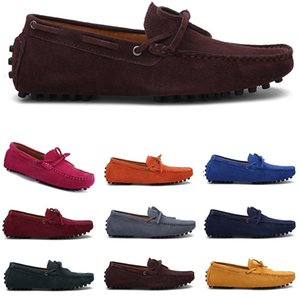 Мужчины Повседневная Обувь Espadriilles Трехместный Черный ВМС Браун Вина Красный Зеленый Хэки Кофе Мужская S Открытый Безгигание Ходьбы Тридцать один