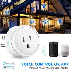 WiFi Smart Plug Adapter Switch Wall Outlet Power Socket US UK EU Plugs for Alexa Connected Google Home App Work Remote Control
