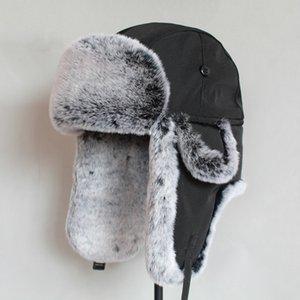 Winter Bomber for Men Faux for Russian Hat Ushanka Fat Warm Cap with Earplugs