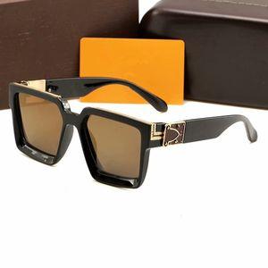 Hombre Sunglass Hombres Gafas de sol Actitud Gafas de sol Estilo de moda Protege los ojos Gafas Sol Lunettes de Soleil con caja