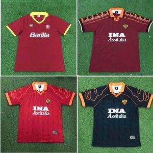 Top 00 01 02 Roma Retro soccer jerseys TOTTI football shirt 89 90 91 92 94 95 96 98 99 BATISTUTA jersey rome Classic maillot de foot