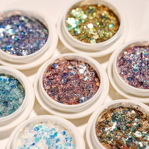 Nail Glitter 1Box DIY Charm Flakes Hexagon Colorful Sequins UV Gel Polish Sparkling Powder Dust 3D Decor