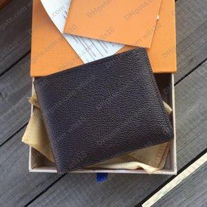 Мужские дизайнерские кошельки женские кошельки высокого качества моды короткие клетчатые цветочные кошельки PortaFoglio UOMO полный набор из 3 цветов держателей с коробкой LB121