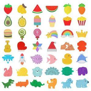 DHL Tiktok Rainbow Fidget Toy Sensory Push Bubble Fidget Sensory Autism Especial Necessidades Ansiedade Stress Reverse para Office Xmas Presente