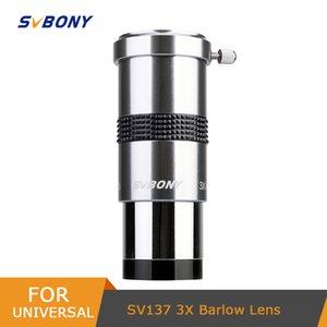 """Svbony 1,25 """"3x Lente Barlow totalmente Metal com Metal Multi-Revestido com M42x0.75 Thread Câmera Connect Interface para oculares Telescope W9106 210319"""