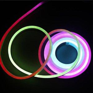 방수 RGB LED 네온 라이트 WS2811 IC 유연한 로프 스트립 바 SMD 변경 가능한 소프트 튜브 10M DC12V 24V 스트립