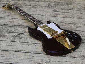 High Quality Custom Black Double Cut Electric Guitar,3 Pickups