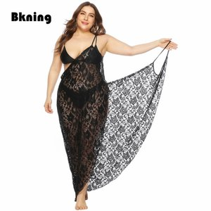 Plus Size Dresses for Women 4xl Lace Tunic Pareo Playa Mujer Gehaakte Jurk Robe Plage Dentelle Black Beach Cover Up Bikini Dress