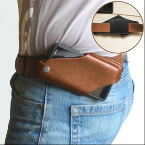 Mens Phone PU Leather Waist Bags Case Waistband Mobile Outdoor Sports Protection