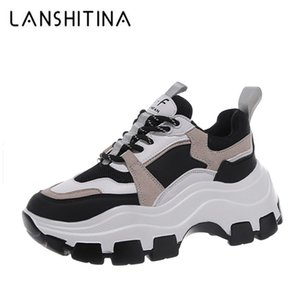 Winter Platform Sneakers Women Spring 8CM Thick Bottom Dad Shoes Height Increased Casual Shoes Breathing Warm Leisure Shoes 210322