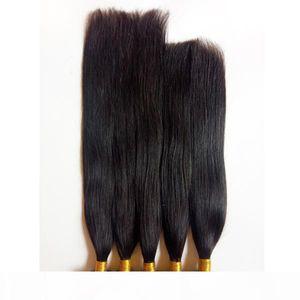 Четыре сезона Красота прямые мягкие бразильские человеческие волосы плетение угловых волос дешевые двойные уток европейских человеческих волос 5 шт. Лот натуральный цвет