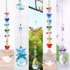 Crystal Sun Catchers Crystaliers Cristaux Cristaux Pendentif Pendentif Rainbow Maker Pending Chakra Cascade Suncatcher Accueil Décorations de décoration de jardin