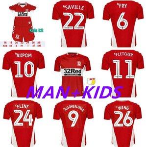 21/22 Men Kids Kit Middlesbrough Soccer Jersey 2021 2022 Fry Fletcher Ashley Michael Akpom Flint Saville Wing Assombalonga Футбольные рубашки Топы Таиланда
