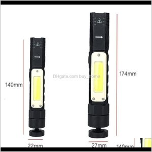 Flashlights And Hiking Sports & Outdoorscob Usb Charging Flashlight Corner Foldable Rotate Torches Red White Light Night Outdoor Headlamp Hea