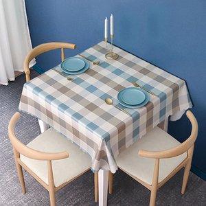 Table Cloth Waterproof, Anti Scald, Oil, Wash Free PVC Rectangular Round Tea Mat