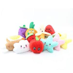 Sound Banana Watermelon Radish fruits Plush Toy vegetables Classical Cute Dog Interactive Gift Soft Pet Teething Molar toys