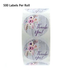 500pcs roll Thank You Stickers Stamp Tags Handmade Scrapbooking Packaging Seal Labels Stationery Gift Wrap
