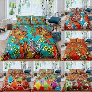 ZEIMON African Bedding Set Floral Duvet Cover Vintage set Ethnic Kids clothes Girl Boys Home Textiles 210615