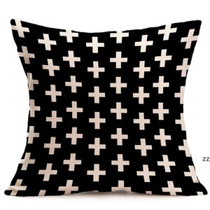 halloween Christmas black white pillowcase geometry Cushion covers Cotton linen pillow cover for Sofa bed Nordic Throw Pillow case HWD10645