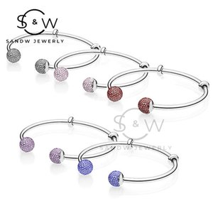 S925 original sterling silver bracelet 1: 1 open-end jewelry inlaid with colorful zircon wedding accessories for lovers