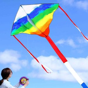 Large Diamond-shaped Rainbow Kite Easy Fly In The Breeze Outdoor Picnic Recreational For Adults And Children