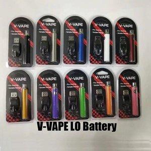 V-VAPE LO Reheate В.В. Батарее батареи VV 650mah Вариабельный аккумулятор переменного напряжения с зарядным устройством USB для 510 резьбовый толстый масляный картридж UPS