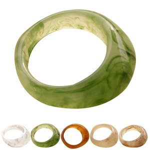 Resin Band Ring Fashion Stackable Knuckle Midi Ring Finger Ring For Women Girls Jewelry Accessories Party Dress Up