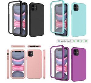 2 IN 1 Shockproof Phone Cases For iPhone 12 Mini Pro Max 11 6 7 8 5 Plus XR XS TPU+PC Case