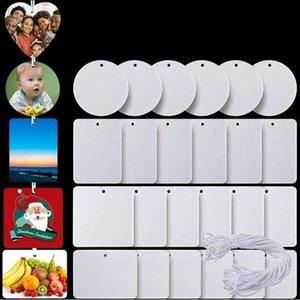 Aroma-Karten-Sublimations-leerer Lufterfrischer 10 * 7 cm Filzmaterial-Blatt weiß nichtcented Home-Düfte Auto Airs Erfrischungsfrau mit String