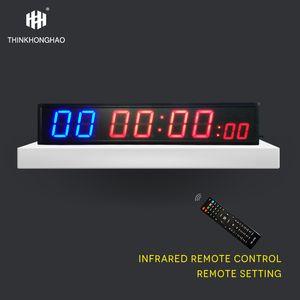Светодиодный дисплей фитнес тренажерный зал Таймер 8 цифр Дистанционного управления Физическая тренировка Обратный отсчет / вверх Настенные часы